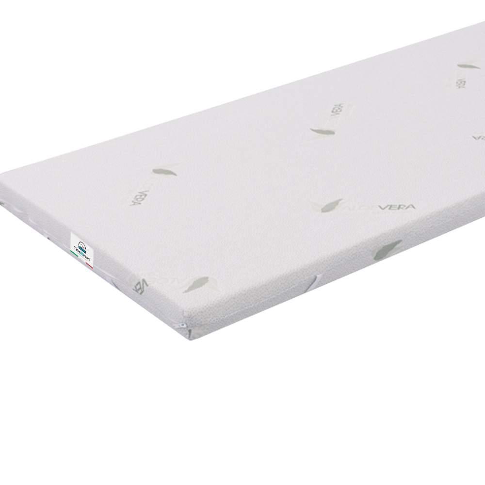 Topper colchão memory foam com revestimento aloé vera de 90x200 top3