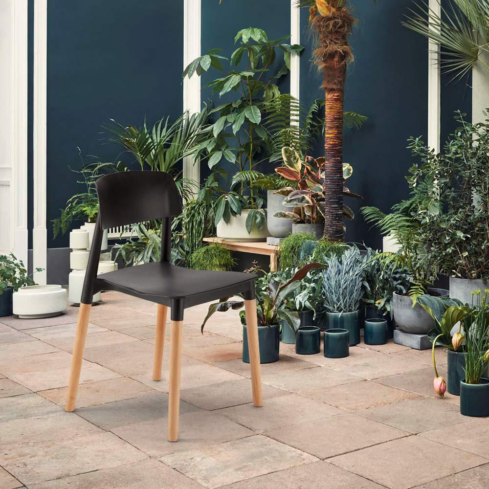 Cadeiras Cozinha Bar Polipropileno Madeira Design Belloch Barcelona