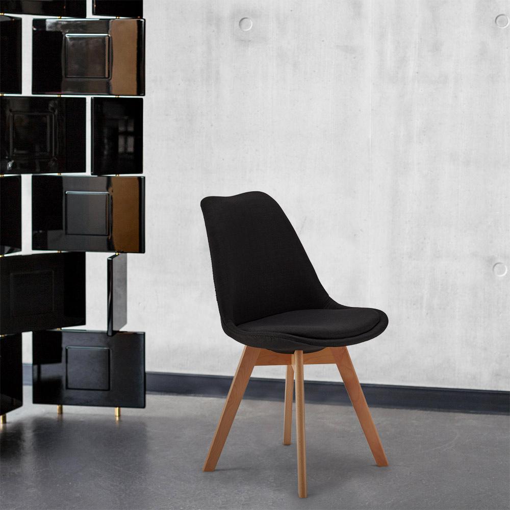 Cadeiras Almofada Tecido Design Escandinavo Tulip Nordica Plus