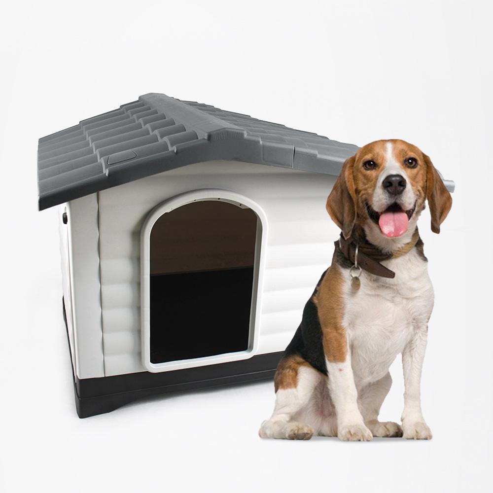 Canil de jardim para cães de médio a grande porte em plataforma de plástico Bijoux