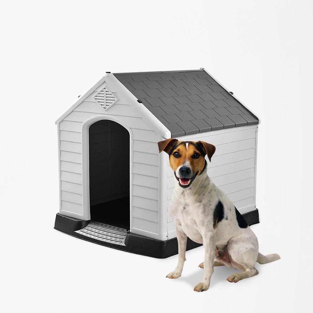 Casa de canil para cães pequenos em jardim de plástico Coco