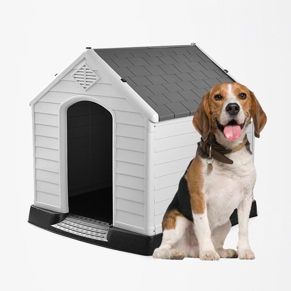 Casinha de jardim de canil para cães de médio porte em plástico Ruby