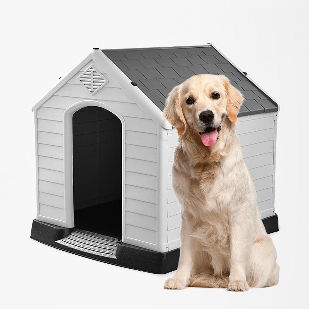 Casota para cães de grande porte em plástico externo interno Bobby