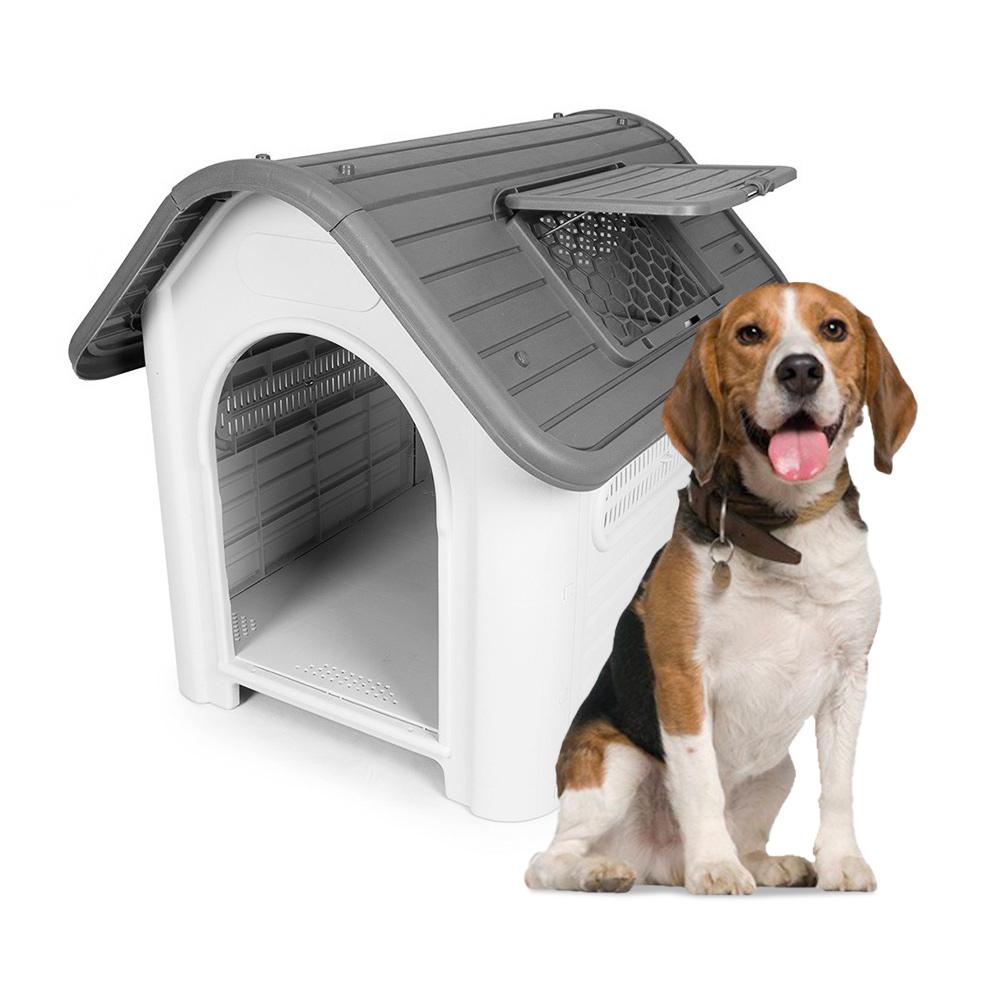 Canil para cães de médio porte em plástico externo interno Bella