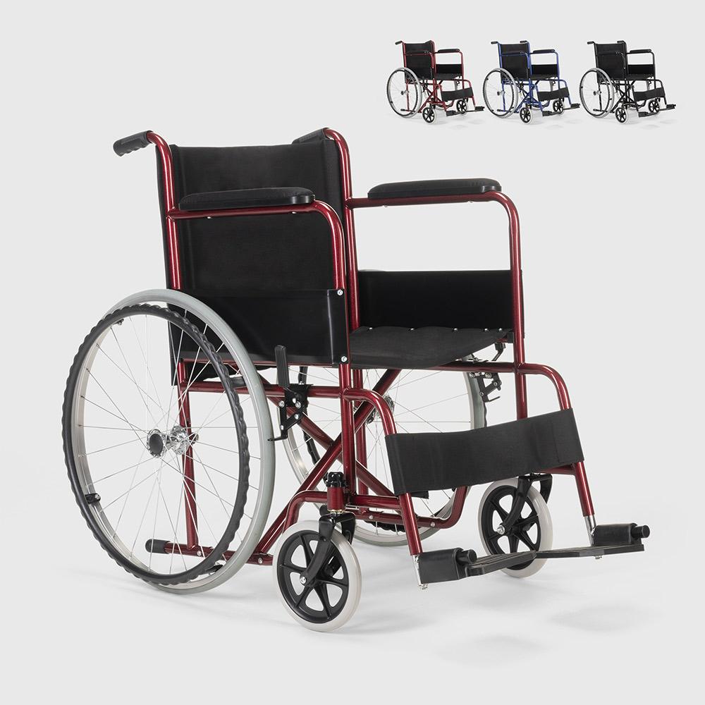 Cadeira de rodas tecido oxford ortopédica dobrável deficientes e idosos Lily