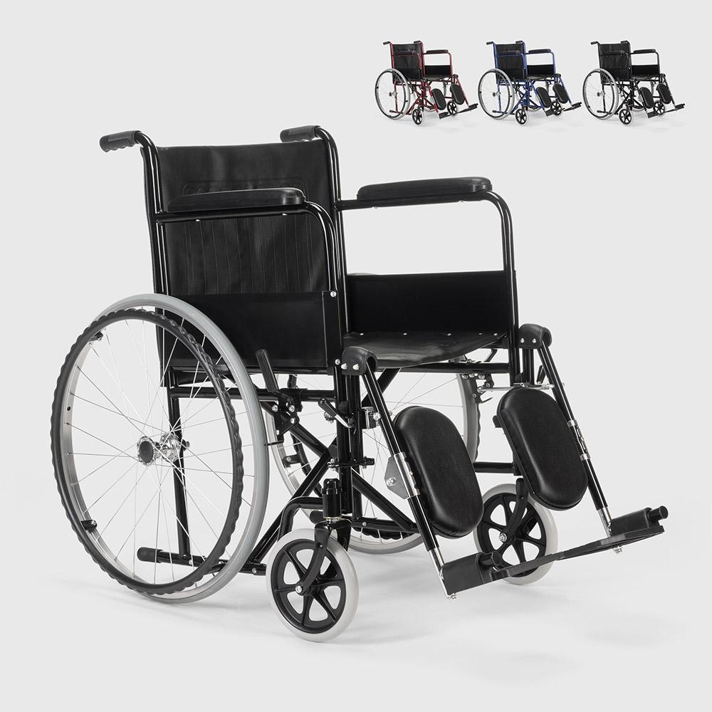 Cadeira de rodas com apoio de pernas dobráveis deficientes e idosos Peony