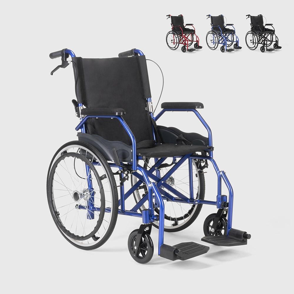 Cadeira de rodas dobrável em tecido ortopédico com freios deficientes e idosos Dasy