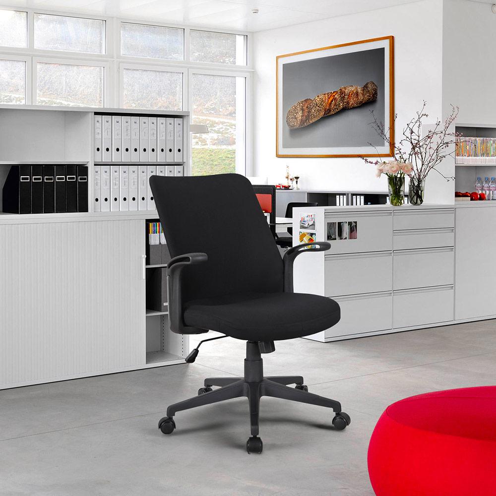 Cadeira De Escritório Clássica, Poltrona Ergonômica Confortável Em Tecido Assen