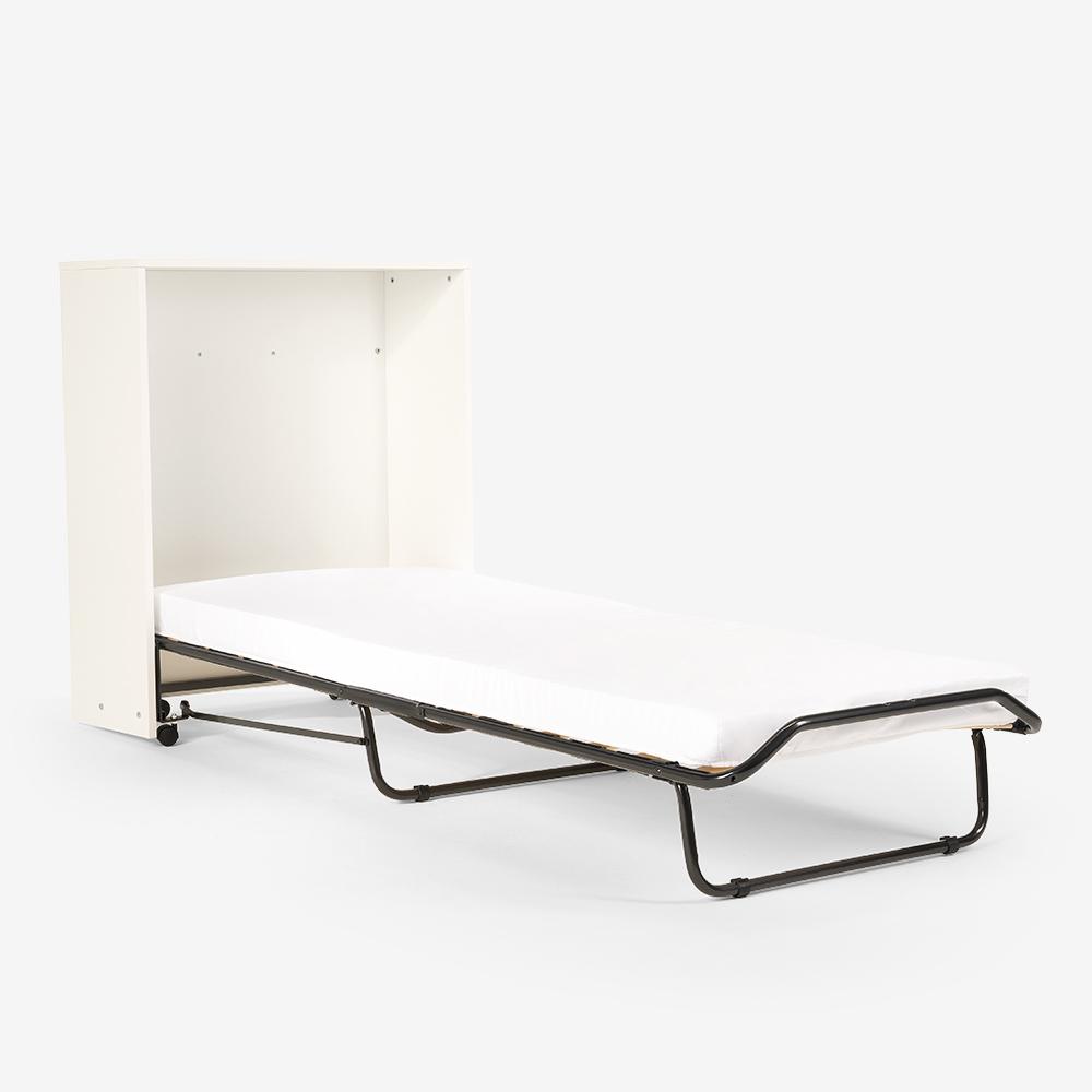 Cama dobrável com colchão e ripas 80x190 Atena