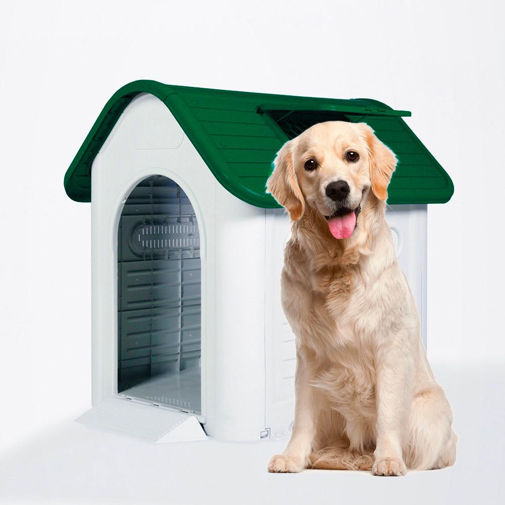 Casota Para Cães De Plástico Tamanho Grande Dentro De Fora Molly