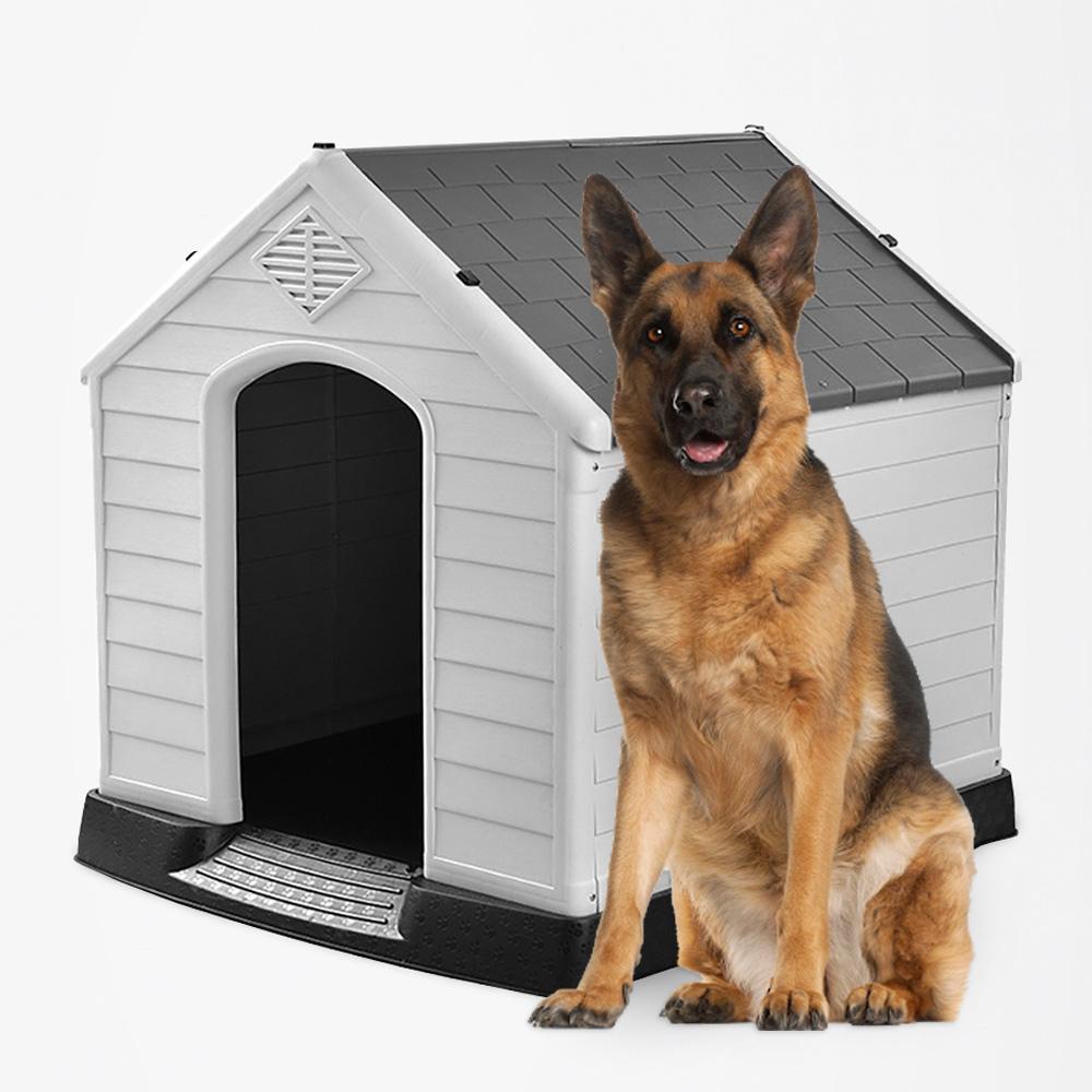 Casota Interno E Externo Para Cão De Médio A Grande Porte Em Plástico Rock