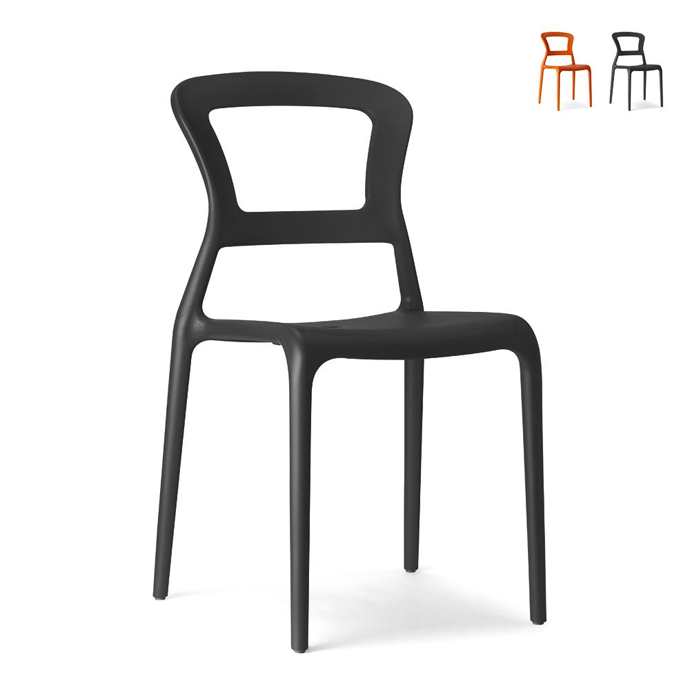 Cadeiras empilháveis de design moderno para bar de cozinha restaurante Scab Pepper