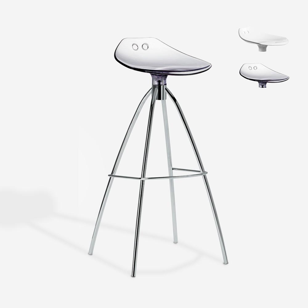 Banco design pernas de aço cozinha bar restaurante Scab Frog h80