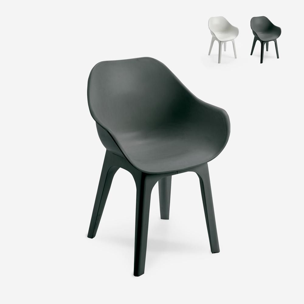 Cadeira de polipropileno moderna para cozinha, restaurante, bar ao ar livre Progarden Ghibli