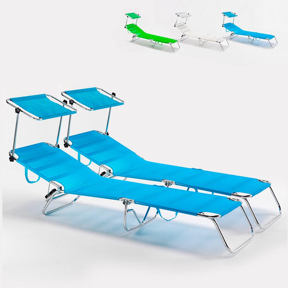 2 camas de praia cama dobrável de alumínio do mar Cancun
