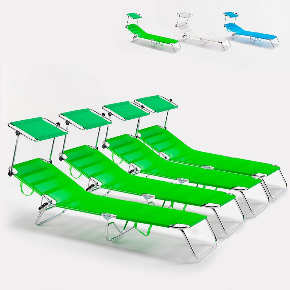 4 camas de praia cama dobrável de alumínio do mar Cancun