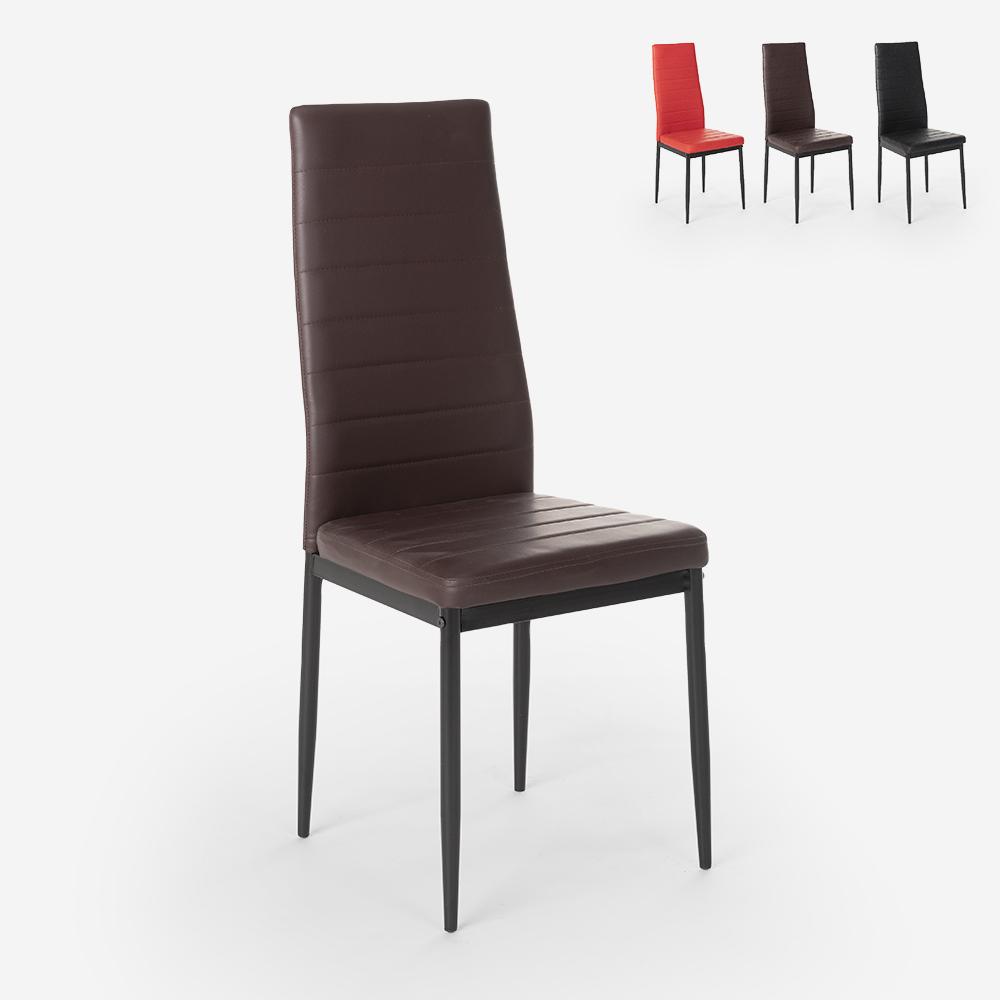 Cadeiras estofadas de design moderno para cozinha, sala de jantar restaurante Imperial Dark