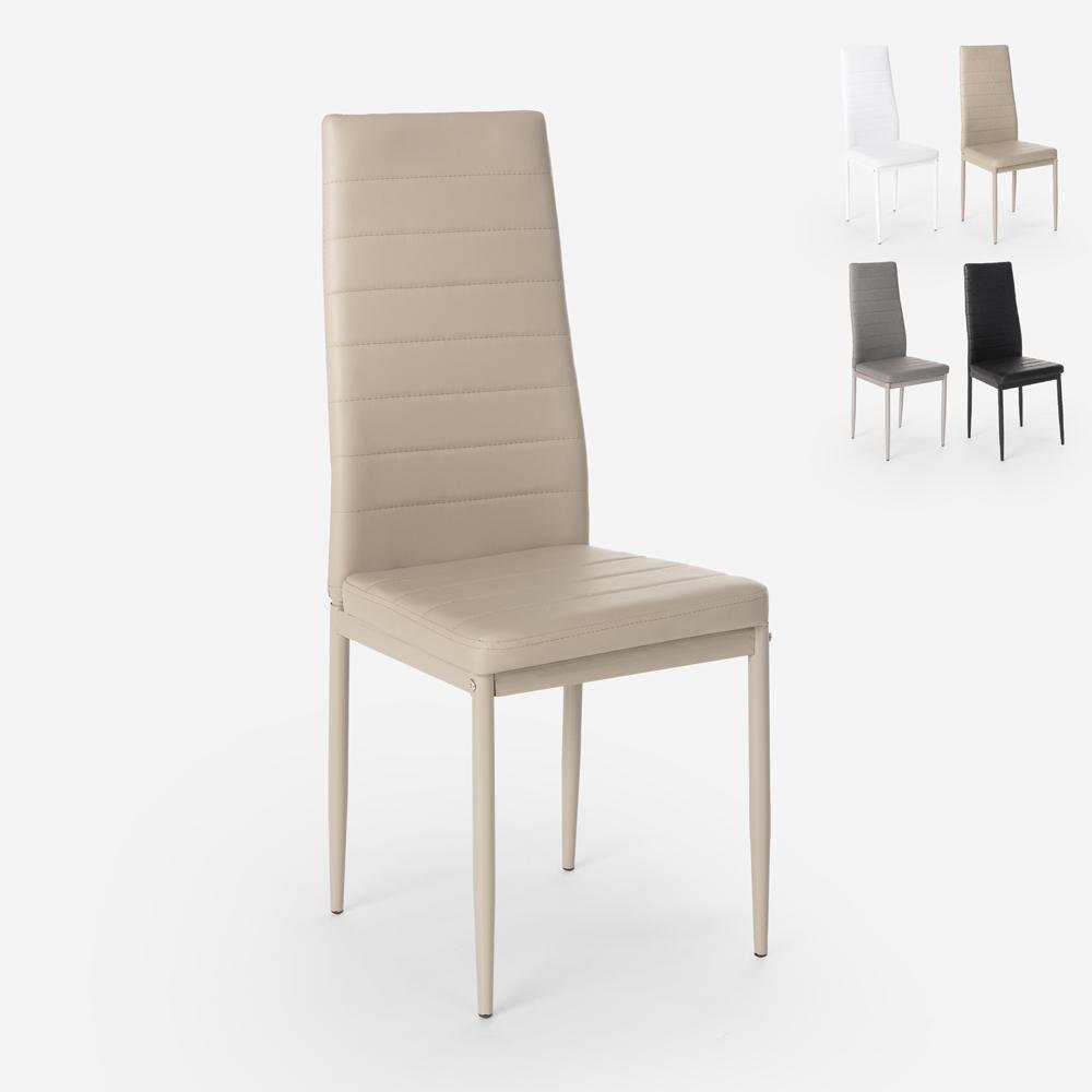 Cadeiras estofadas de design moderno para cozinha, sala de jantar restaurante Imperial