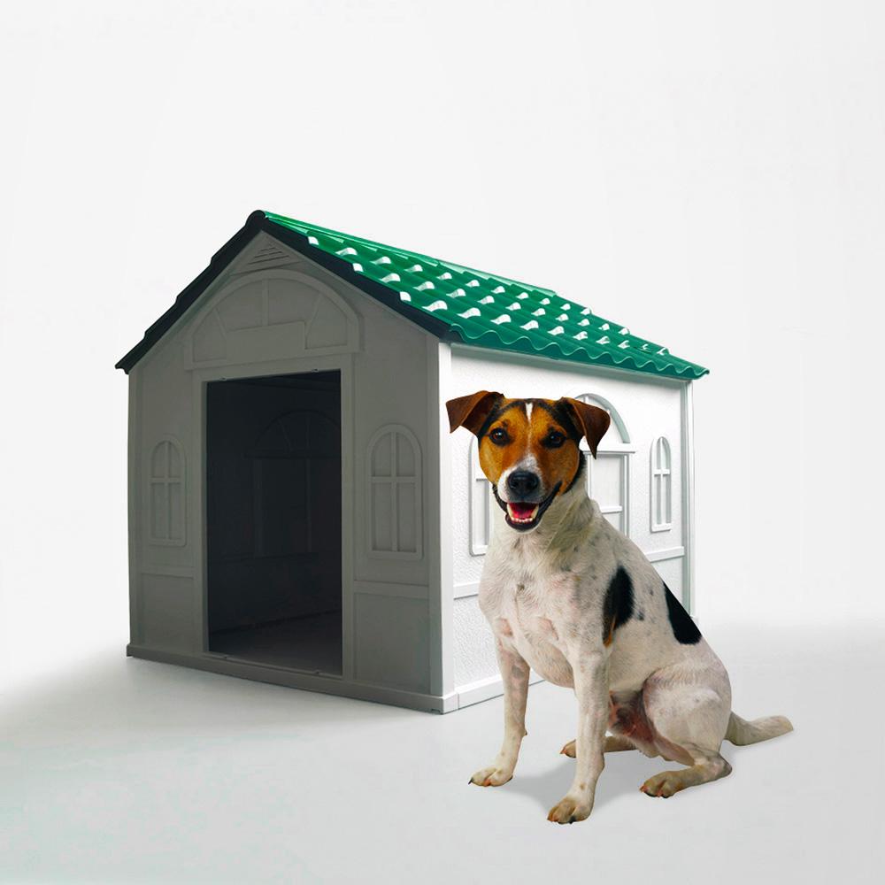 Casa de canil para cães de médio porte em jardim de plástico Milo