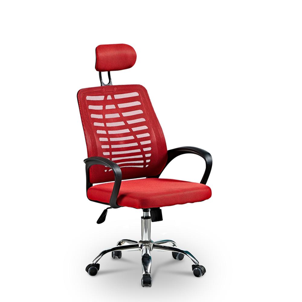 Cadeira de escritório ergonômica com tecido respirável e apoio de cabeça Equilibrium Fire