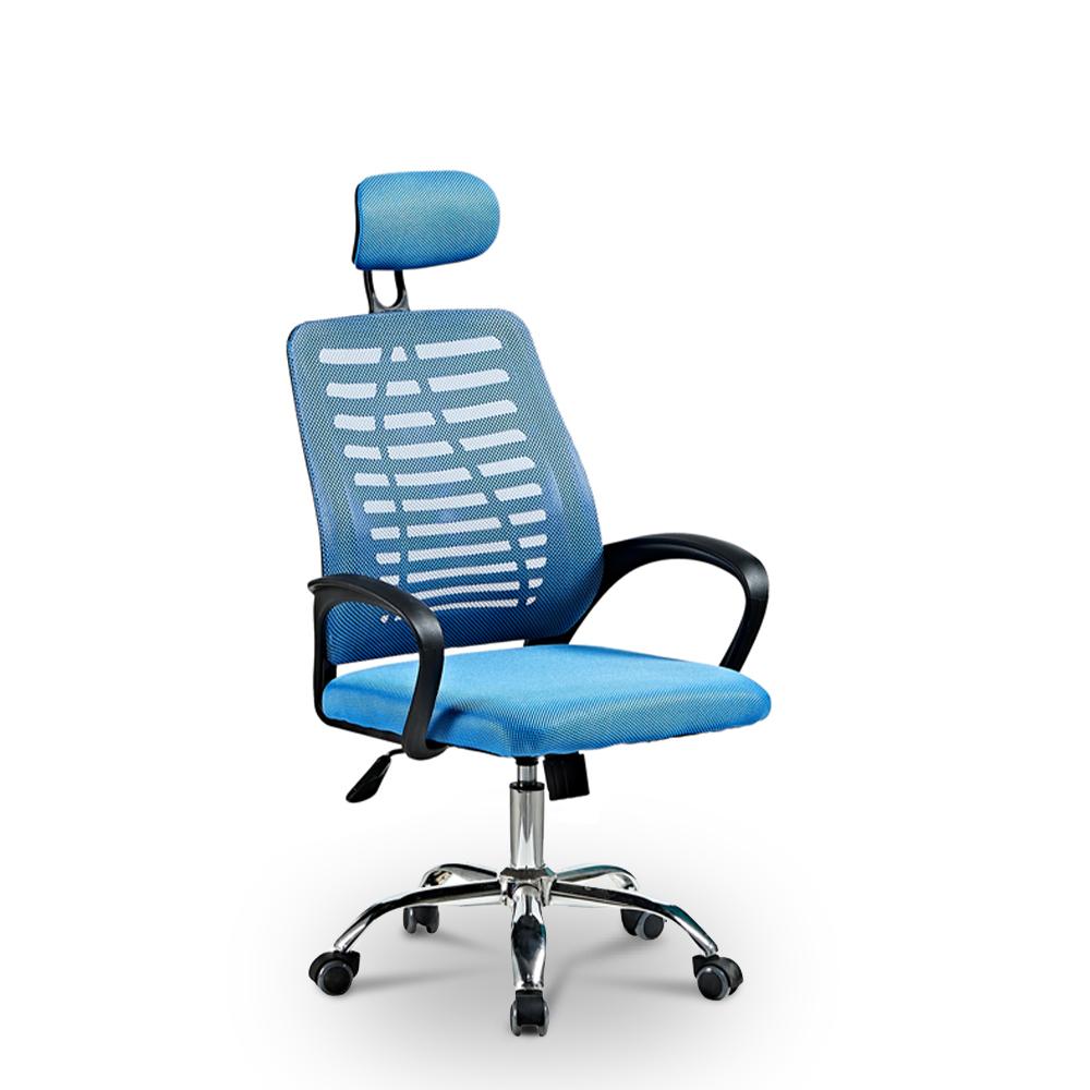 Cadeira de escritório ergonômica com tecido respirável e apoio de cabeça Equilibrium Sky
