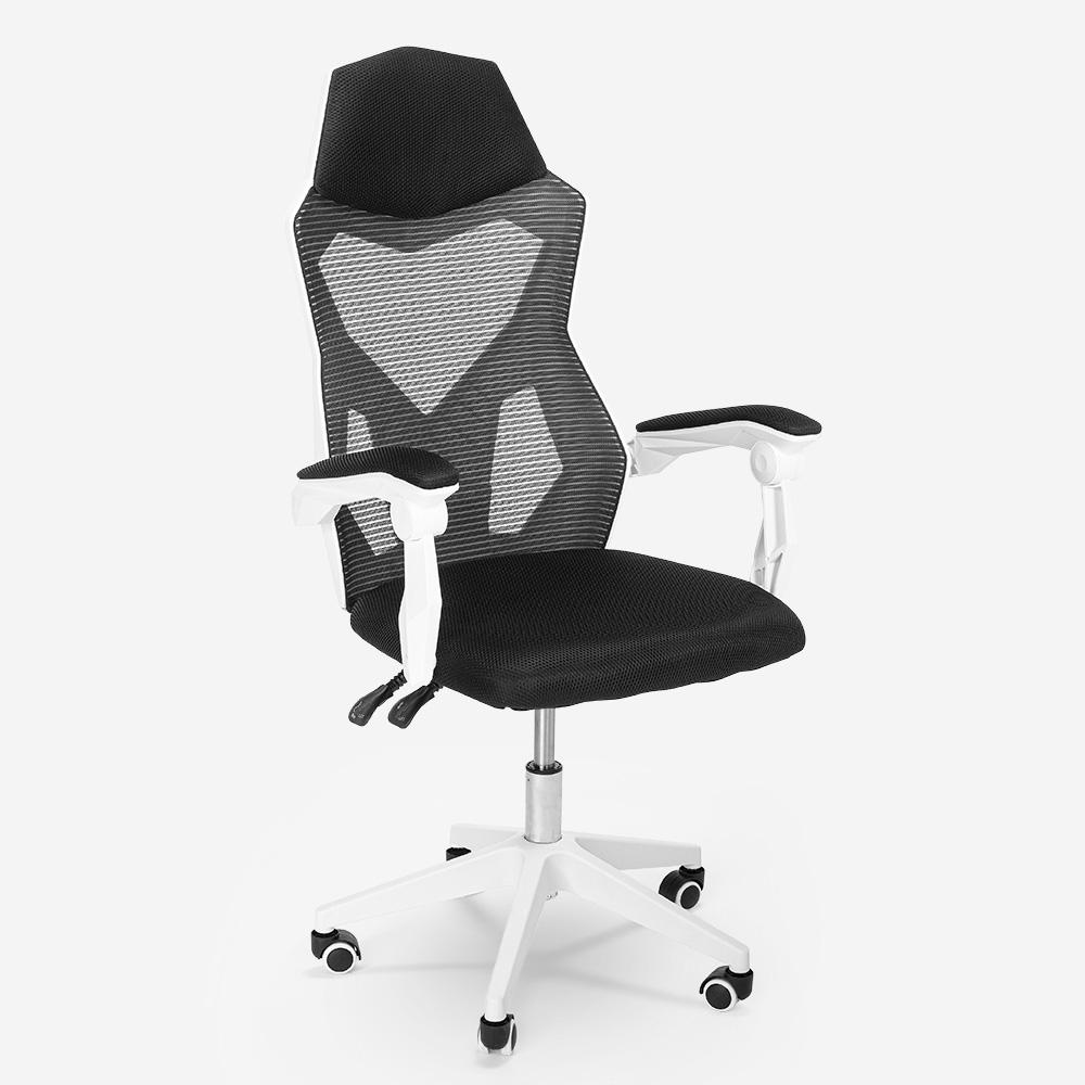 Cadeira gaming ergonómica respirável design futuristico Gordian
