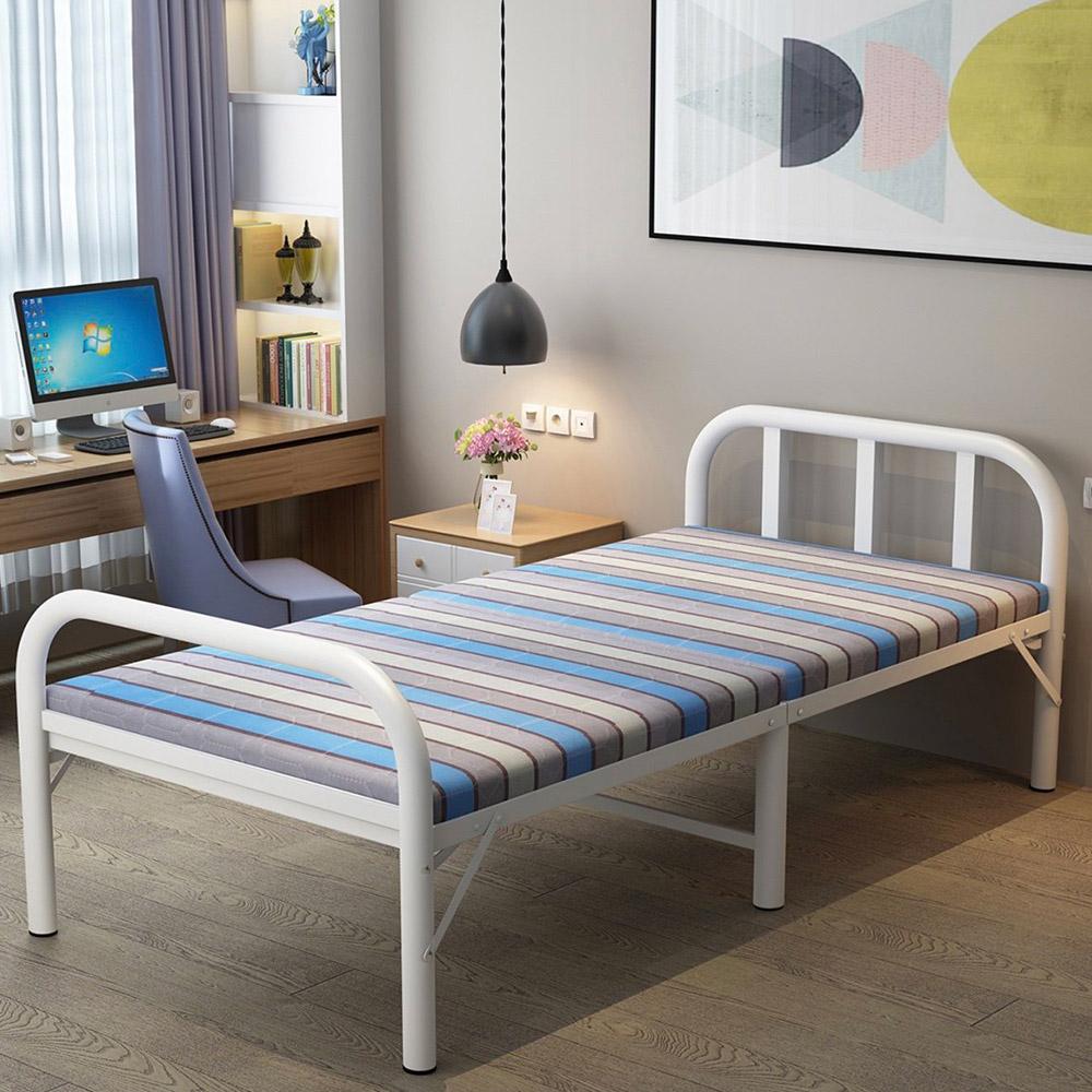 Cama dobrável compacta 90x190cm casa escritório sala de estar Rodense