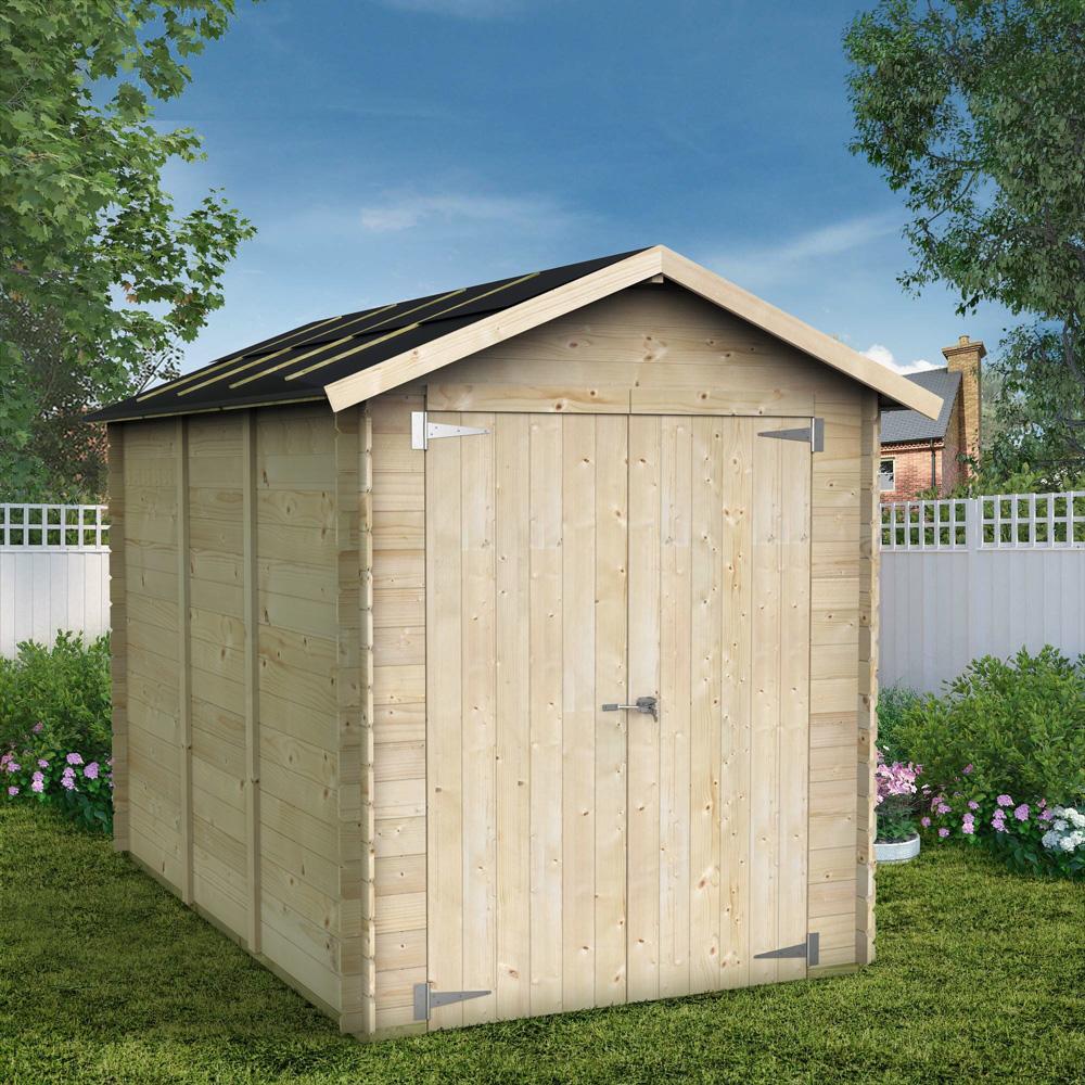 Caixa para ferramentas e galpão de jardim em madeira natural Fiamma 178x273